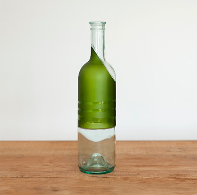 Pure Bottle made from upcycled wine bottles by Lucirmas
