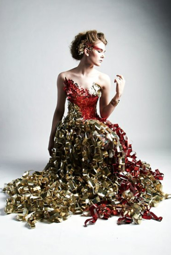 Couture Dresses Made From Upcycled Materials By Dumpster