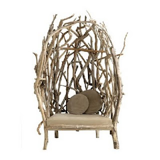 Armchair made from drift wood by Bleu Nature