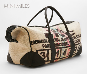 Bag made from hessian coffee sacks by Lost Property of London