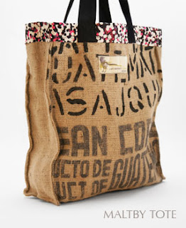 Tote bag made from hessian coffee sacks by Lost Property of London
