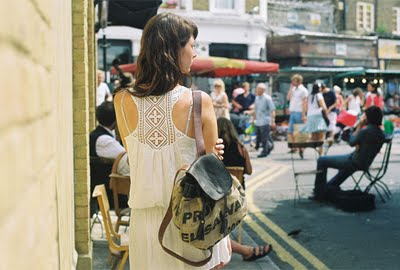 Backpack made from hessian coffee sacks by Lost Property of London