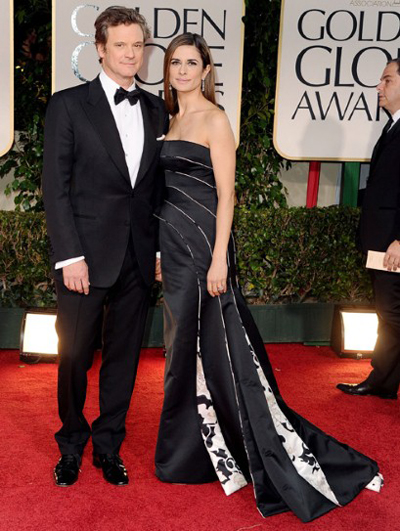 Livia Firth recycled dress Golden Globes 2012