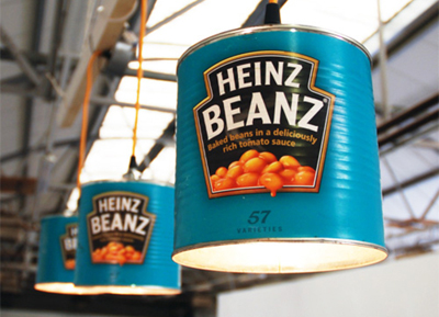 Heinz lamp upcyclist the british classic has been immortalised by willem heeffer with pendant lampshades made from recycled industrial size cans aloadofball Gallery