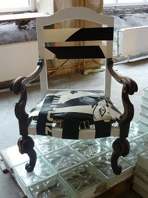 Upcycled vintage armchair by Klinik der Dinge